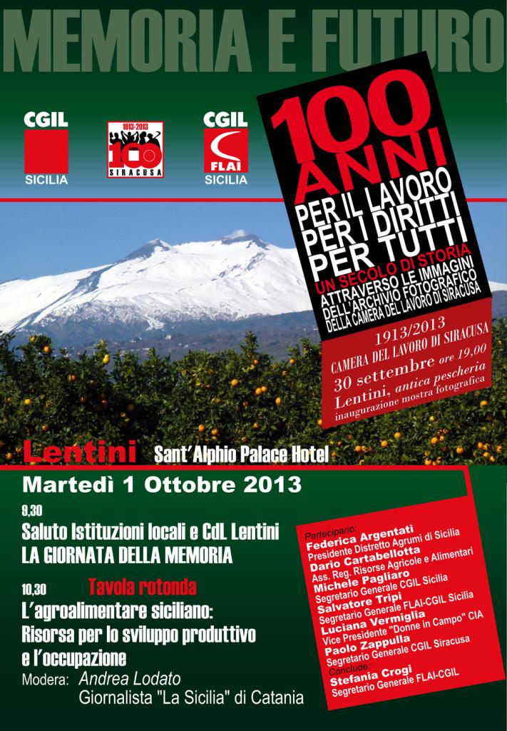 """Lentini (SR), Agroalimentare siciliano: Tavola rotonda """"Memoria e futuro""""."""