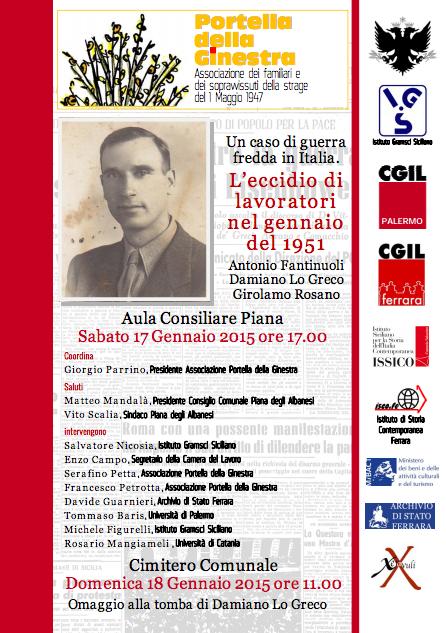 """Memoria, Portella della Ginestra:"""" L'Eccidio di lavoratori del 1951″"""