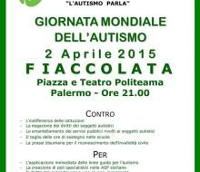 2 Aprile, Fiaccolata Giornata Mondiale dell'Autismo a Palermo