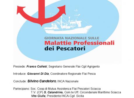 18 Aprile, Sciacca: Giornata Nazionale sulle malattie professionali dei Pescatori