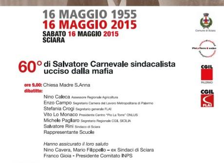 60° di Salvatore Carnevale sindacalista ucciso dalla Mafia