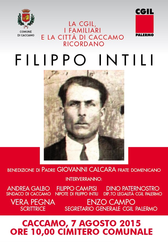 Caccamo, il 7 agosto per ricordare Filippo Intili