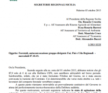 Forestali,autoconvocazionegruppodirigenteFai,FlaieUilaRegionali| 07.10.15.