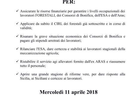 11 APRILE • MANIFESTAZIONE REGIONALE COMPARTO AGRO-FORESTALE-AMBIENTALE