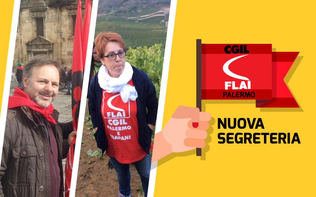 Enza Pisa e Piero Galli eletti nella Segreteria Provinciale della Flai Palermo